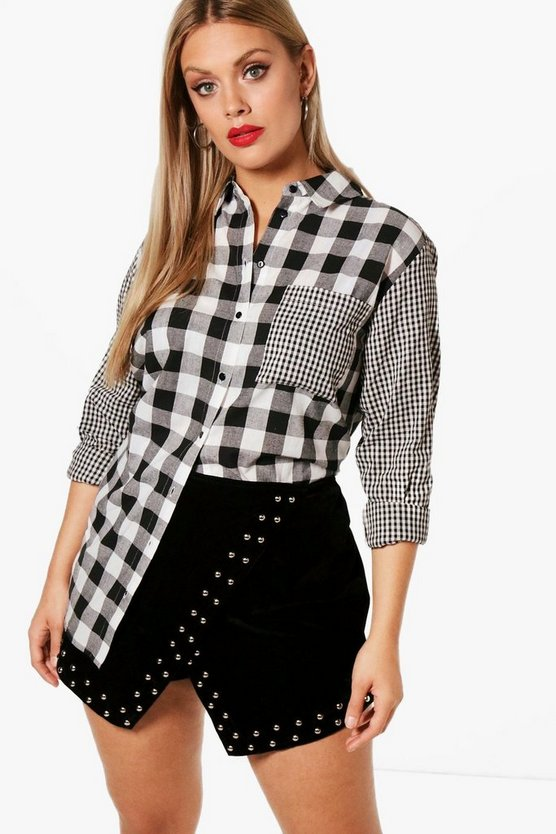 Plus Mix & Match Check Shirt