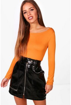 Womens Amber Petite  Basic Long Sleeve Top