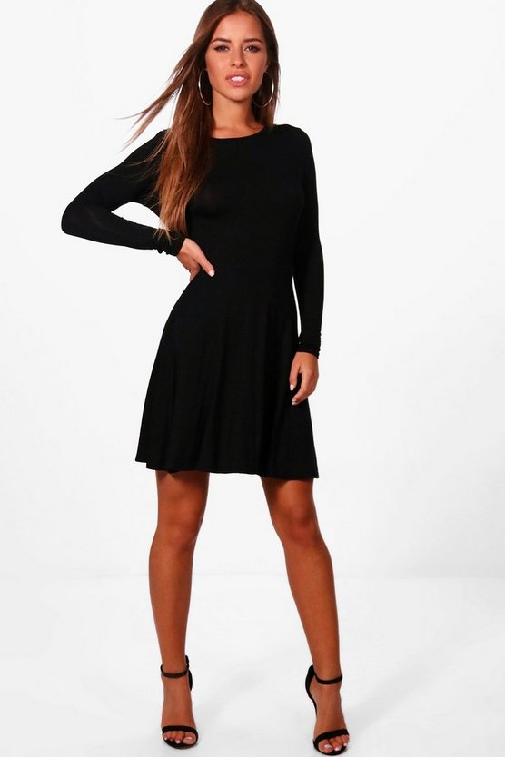 Petite Harriet Basic Long Sleeve Dress