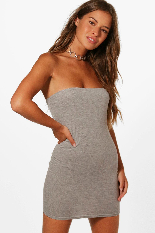 Boohoo-Petite-Rhianne-Basic-Tube-Dress-para-Mujer