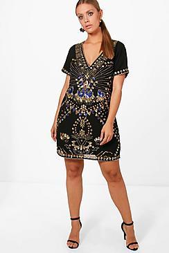 60s Mod Clothing Outfit Ideas Plus Sequin Shift Dress $90.00 AT vintagedancer.com