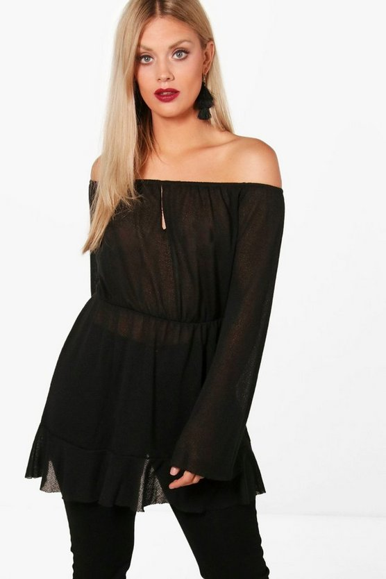 Plus Alison Off The Shoulder Tunic