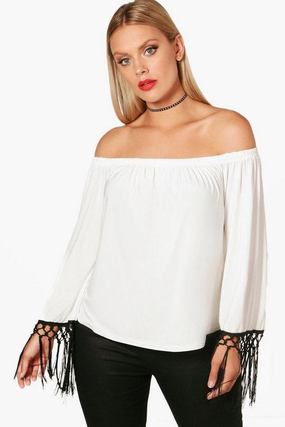 Plus Emily Tassel Trim Top