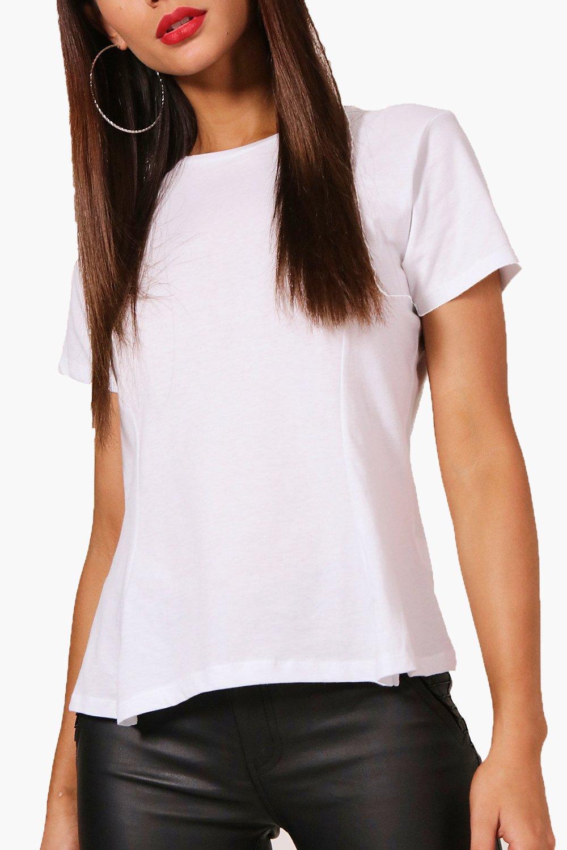 Petite white shirt Hem T Peplum BPB61