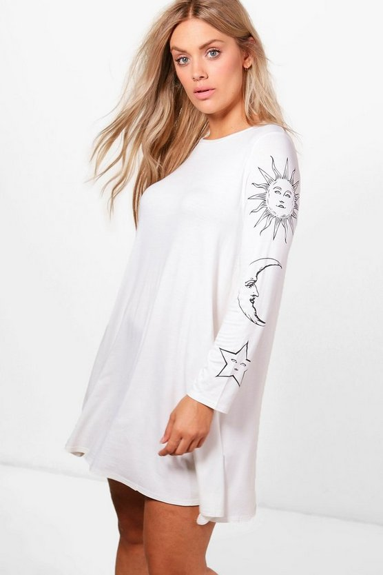 Plus Katie Sun + Moon Swing Dress
