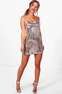 1960s Mad Men Dresses and Clothing Styles Petite Jenna Disco Sequin Slip Dress $51.00 AT vintagedancer.com