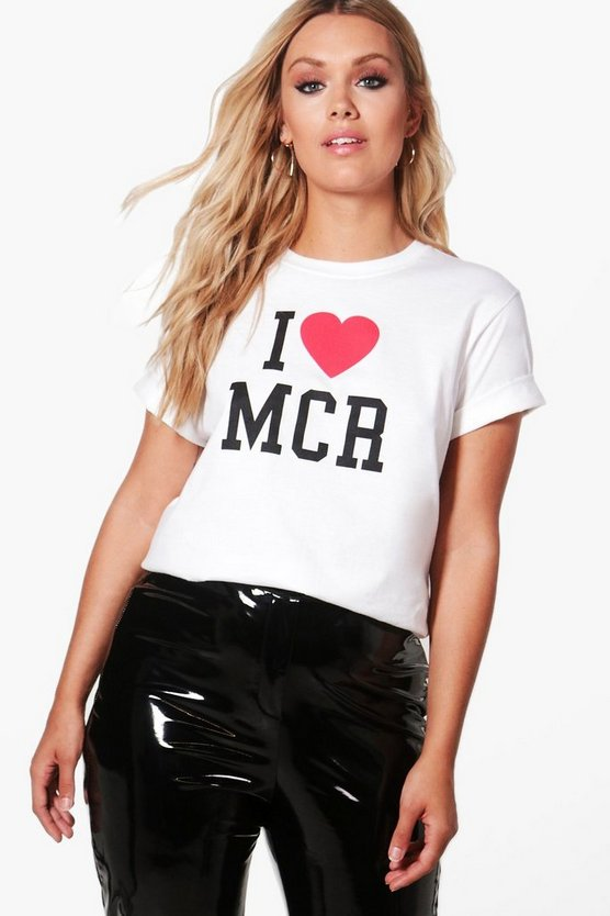 Charity Plus 'I Heart Manchester' T Shirt