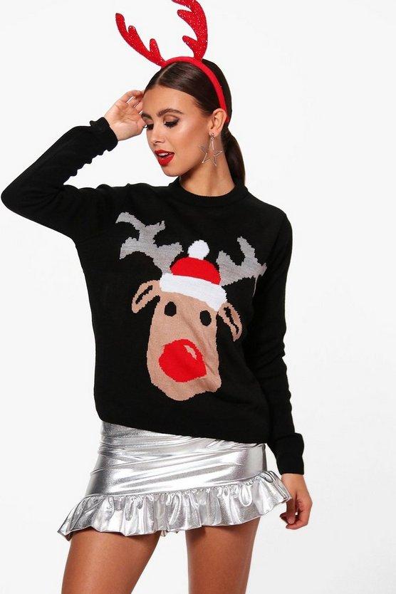 Petite Reindeer Christmas Jumper