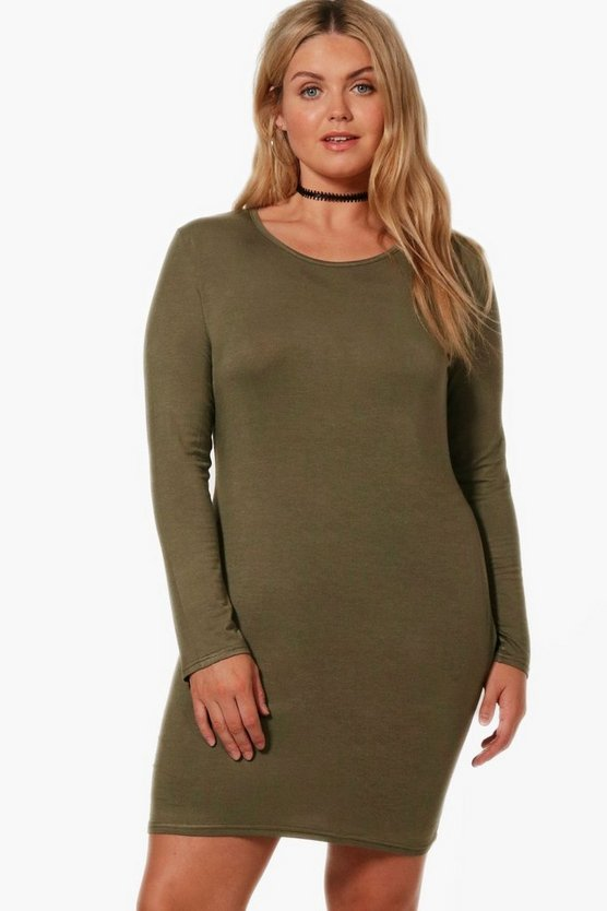 Plus Kate Long Sleeve Bodycon Dress