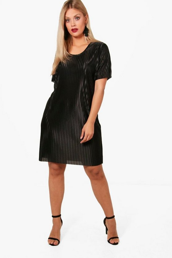Plus Lara Pleated Shirt Dress