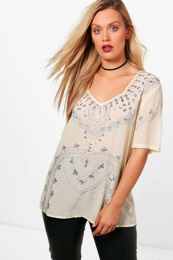 Plus Sequin Shell Top