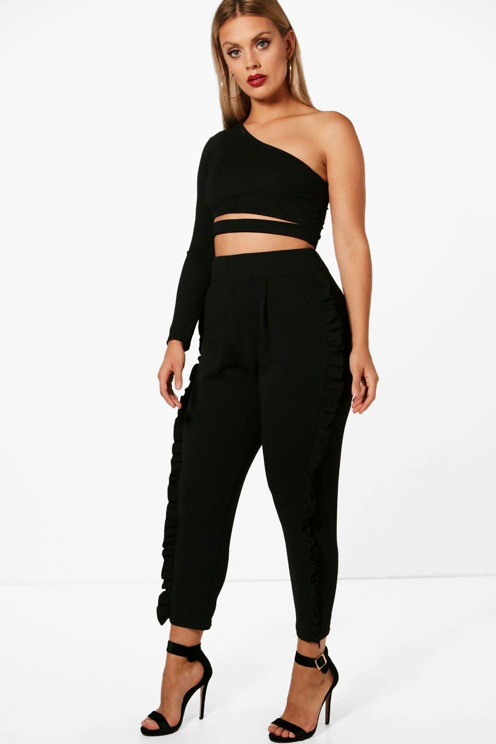 Boohoo Purity praise Plus Frill Detail Trouser Boohoo - Ropa boohoo plus y curve Comprar SIOEODR