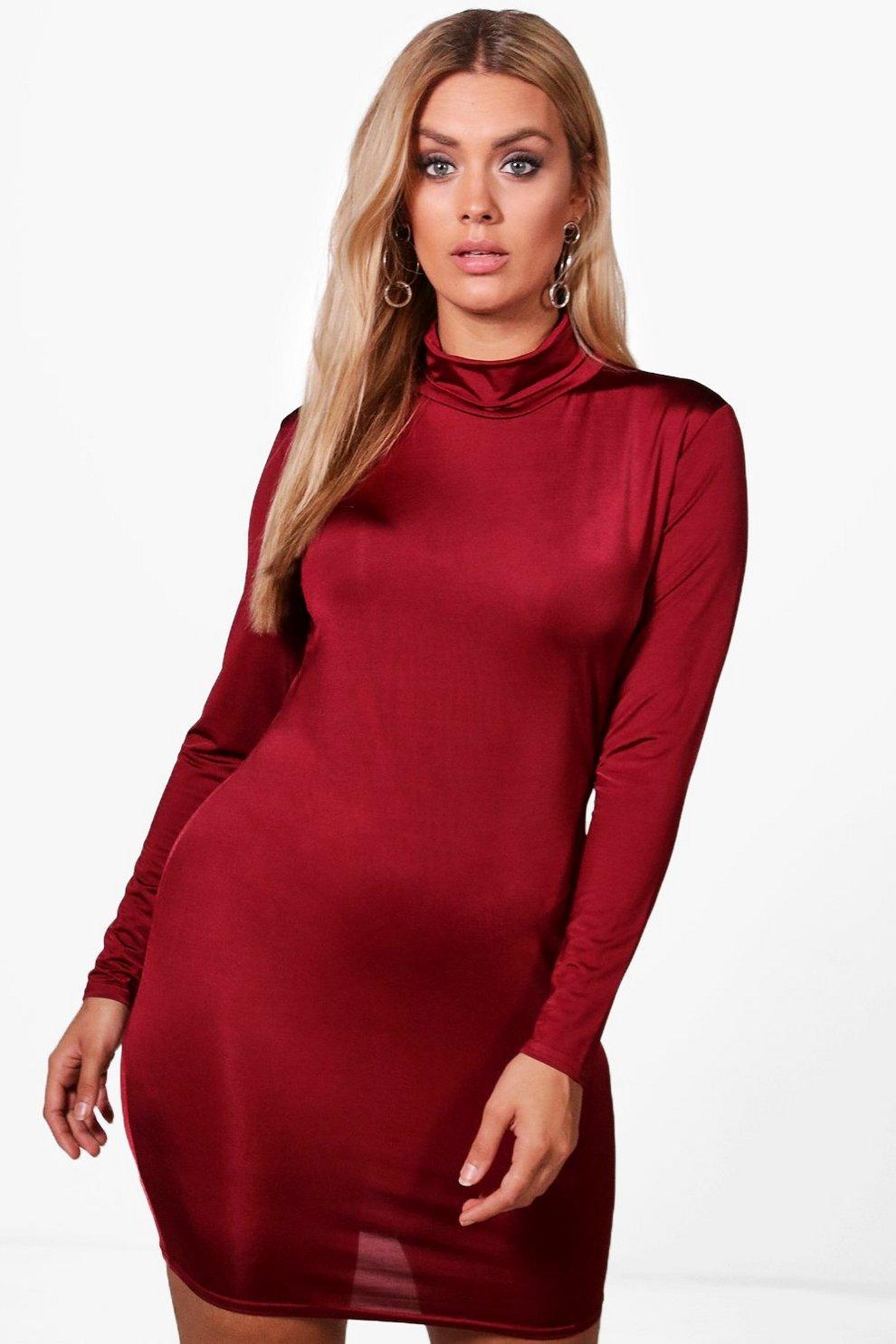 9c578244385 slinky high neck bodycon dress hover zoom buy popular b8e80 59061 ...