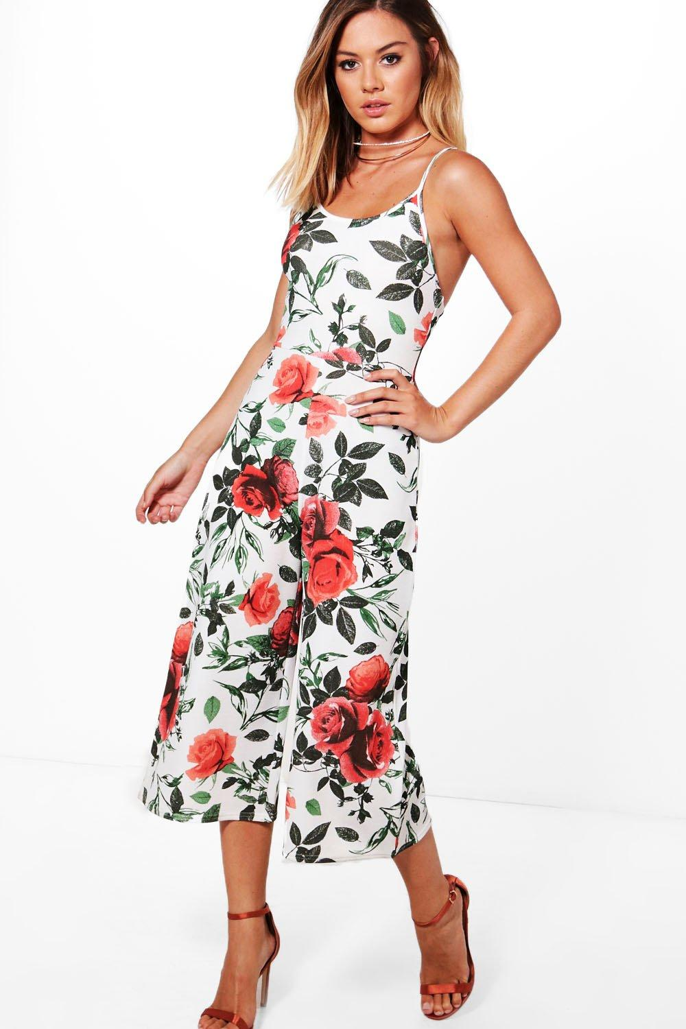 620e2583d34 ... Print Wide Leg Strappy Jumpsuit. Hover to zoom