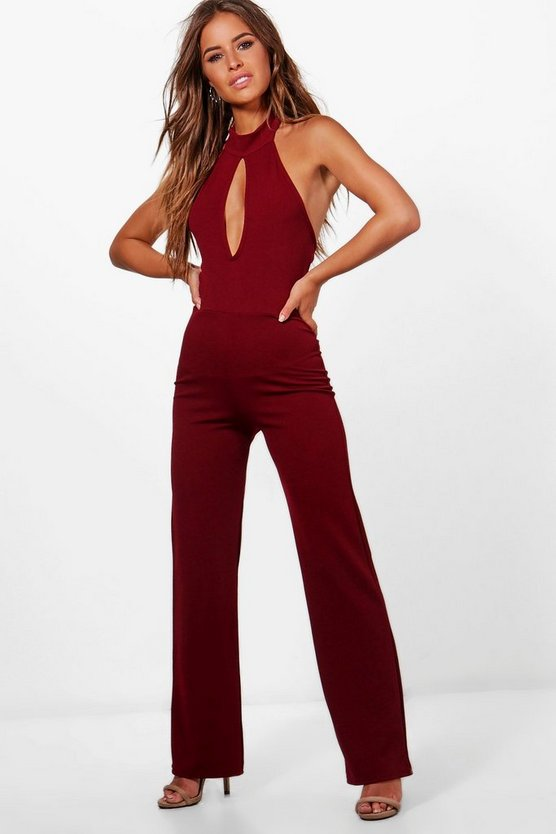 Petite Holly Cut Out High Neck Jumpsuit