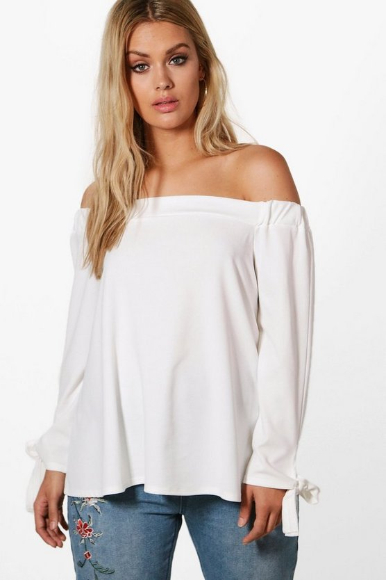 Plus Melissa Off The Shoulder Top