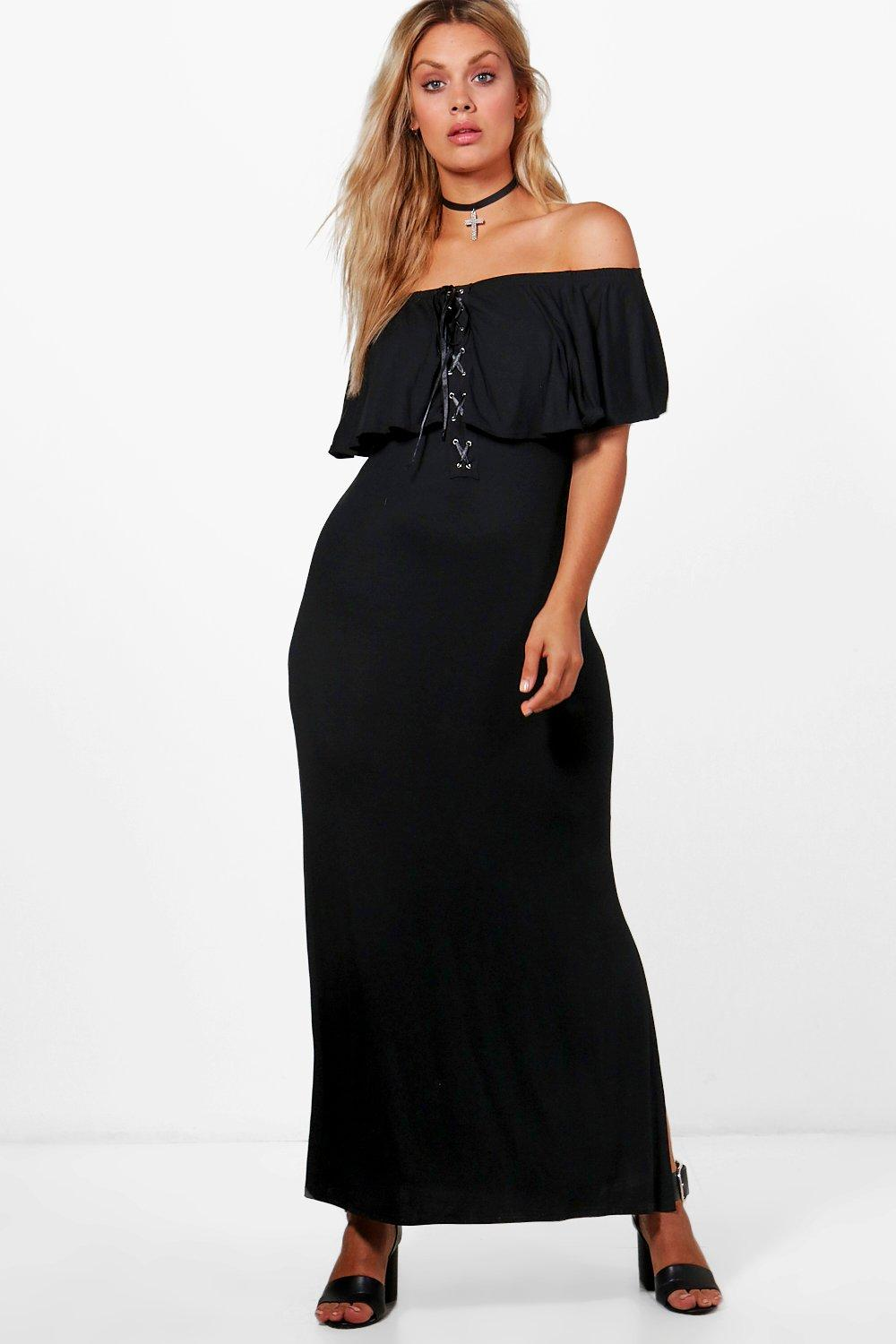 ... The Shoulder Lace Frill Maxi Dress. Hover to zoom 7ab861827