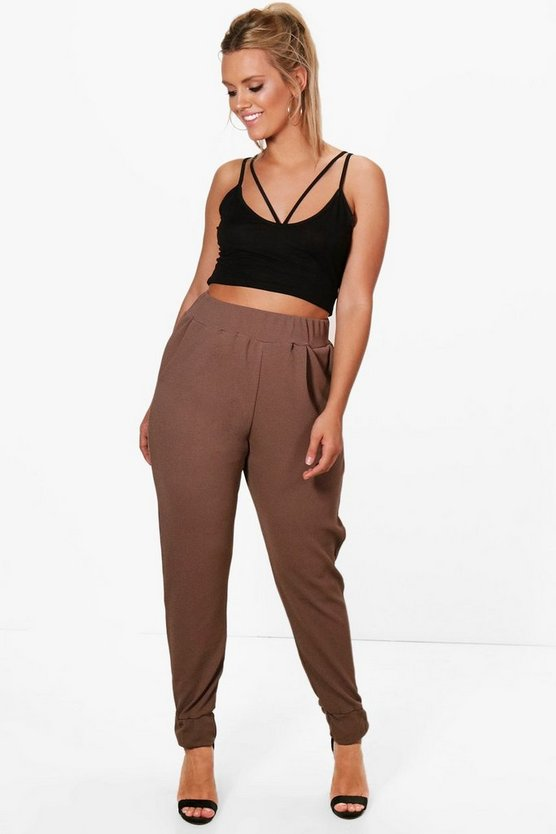 Plus Formal Pleated Cuff Pants