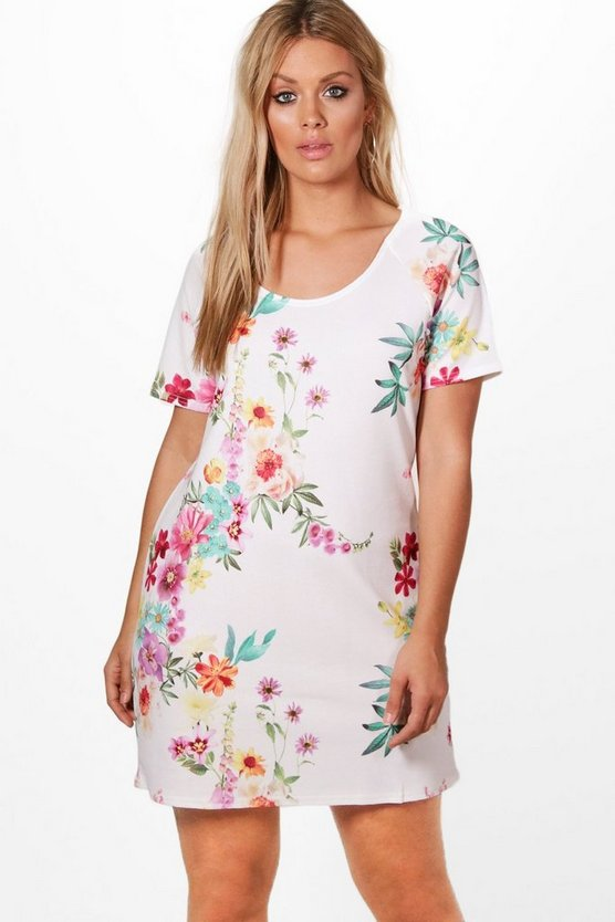 Plus Erin Floral Shift Dress