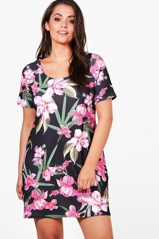 Plus Nadia Floral Shift Dress