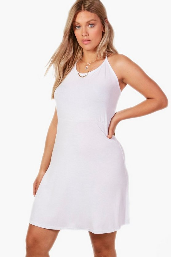 Plus Indea Halterneck Skater Dress