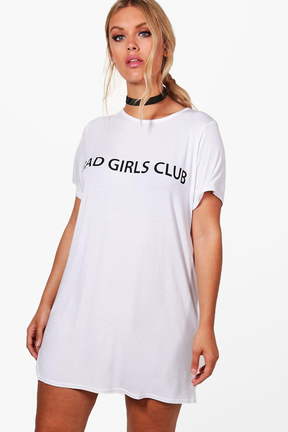special promotion super specials run shoes Plus Liv Oversized Bad Girls Club Slogan T-Shirt Dress | Boohoo