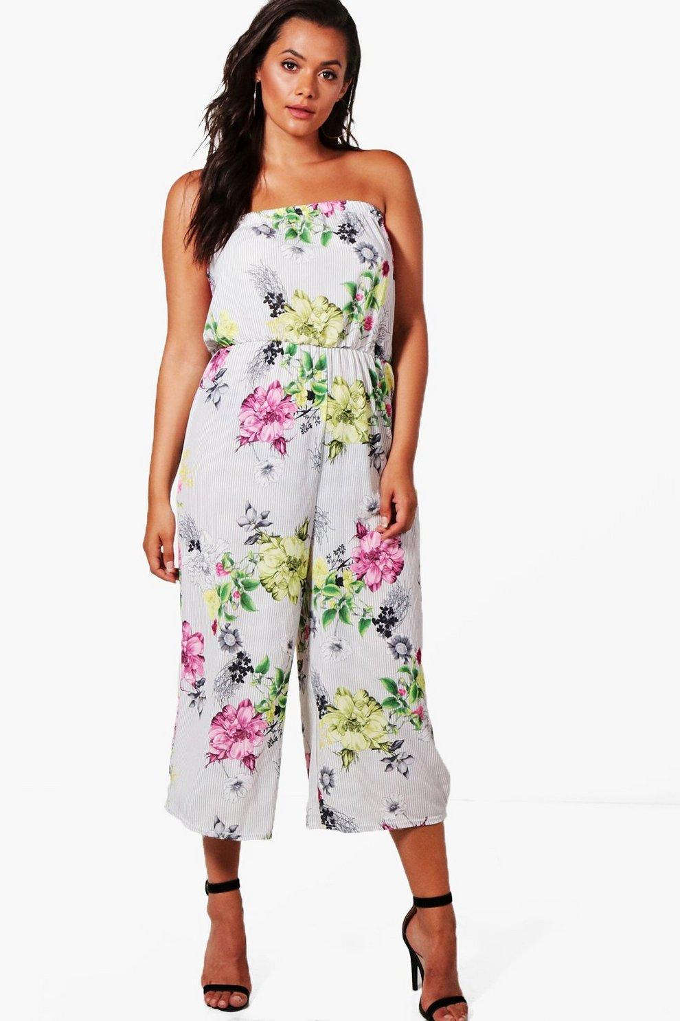 1a2683240ffb Plus Ellie Floral Bandeau Culotte Jumpsuit