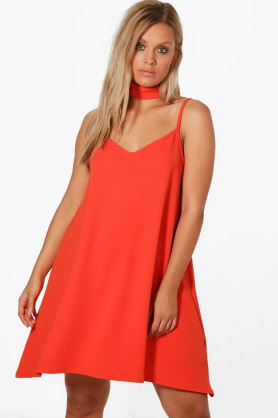 Plus Rosie Crepe Choker Cami Dress