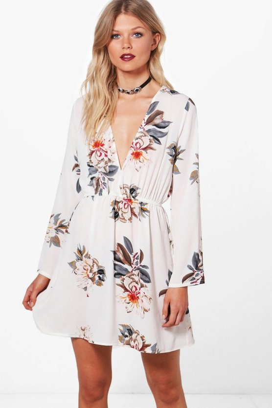 Petite Betsy Floral Wrap Dress