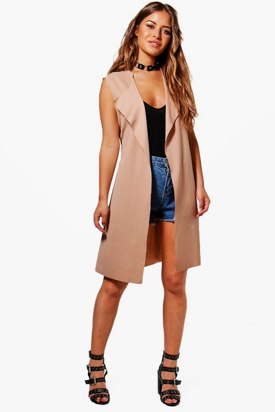 Petite Rebecca Sleeveless Belted Duster