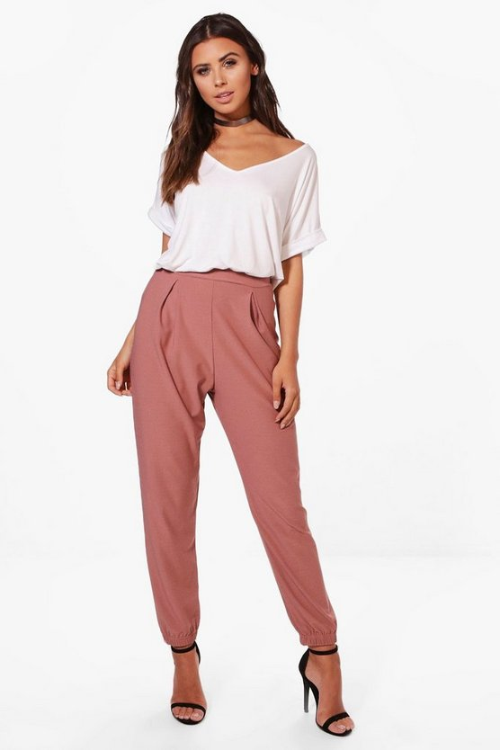 Petite Tapered Loose Fit Trouser