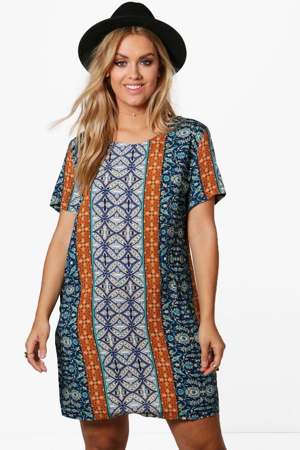 11e0f1d4eaac Womens Multi Plus Imogen Paisley Woven Shift Dress