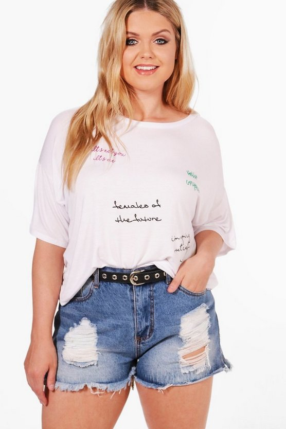Plus Rosie Printed Scribble Tee