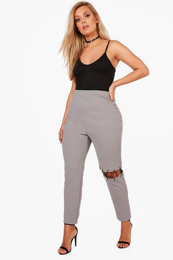 Plus Lyla Lace Up Detail Trouser