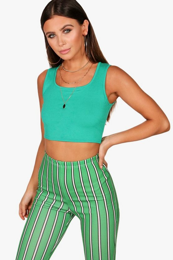 Petite Square Neck Crop Top