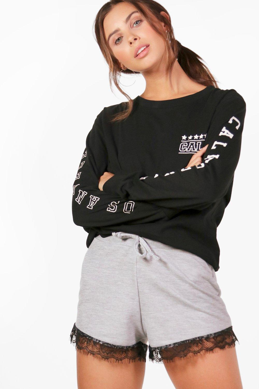 db84af9835a Petite Rachel Lace Trim Jersey Short