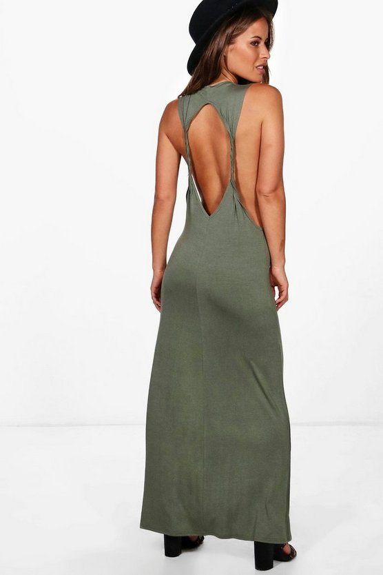 Petite Lola Twist Back Detail Maxi Dress