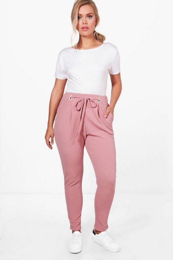 Plus Ava Belt Detail Front Pleat Trouser