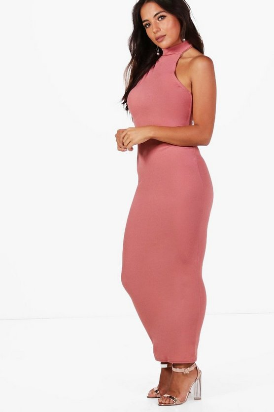 Petite Taylor High Neck Backless Maxi Dress