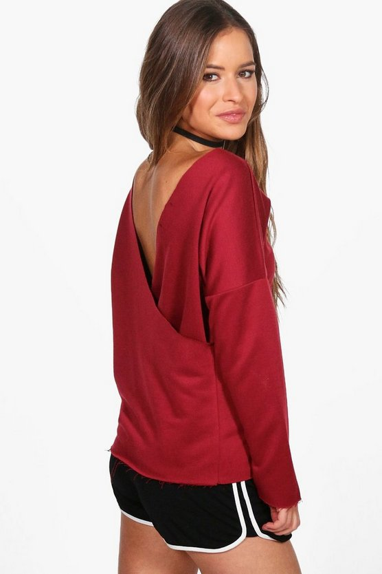 Petite Milly Wrap Back Sweat