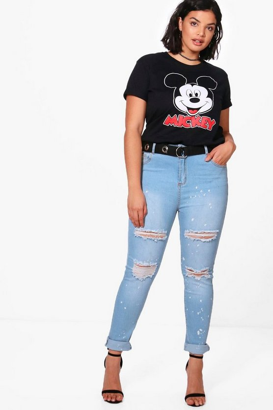 Plus Claire Paint Splatter Skinny Jean
