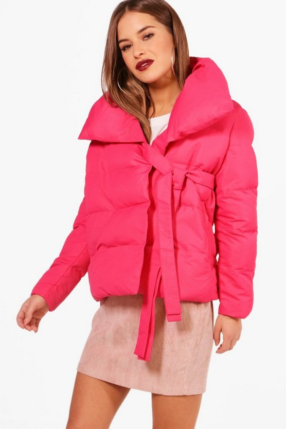 Petite Niamh Large Collar Padded Coat