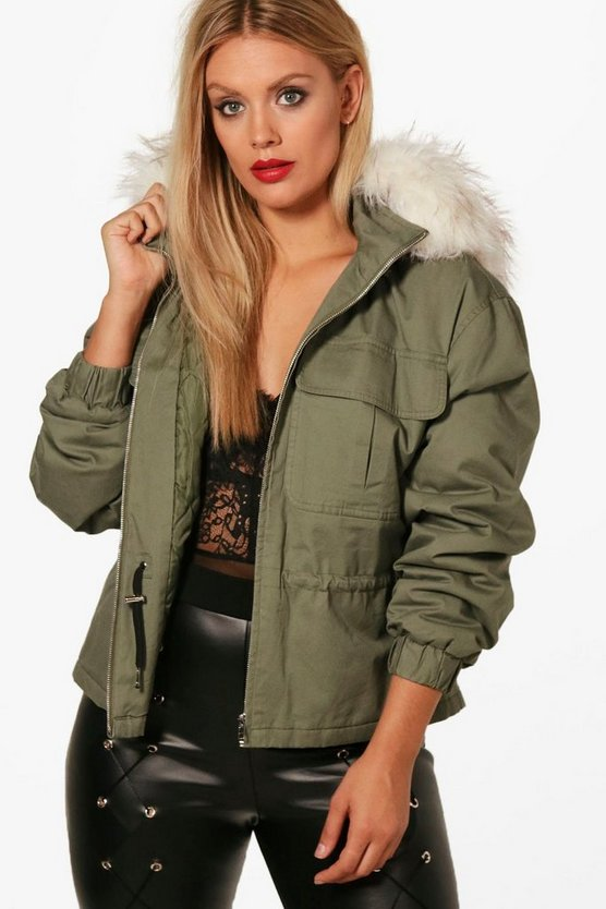 Plus Katie Pocket Front Hooded Jacket