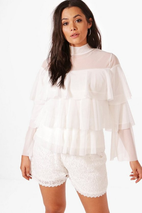 Plus Hope Mesh Layered Top
