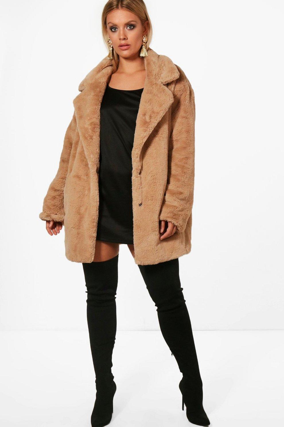 Manteau teddy femme fausse fourrure
