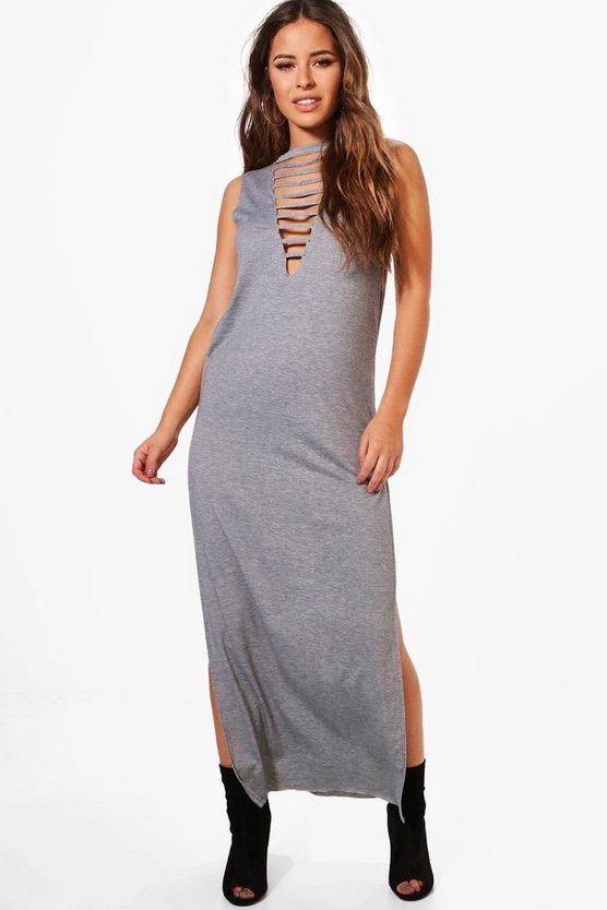 Petite Joanne Plunge Neck Tank Maxi Dress