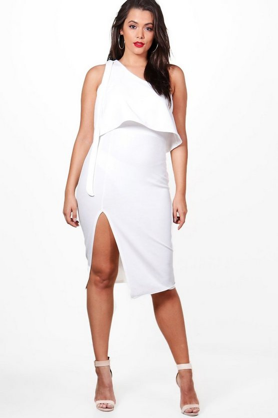 Plus Laurie Double Layer Midi Dress