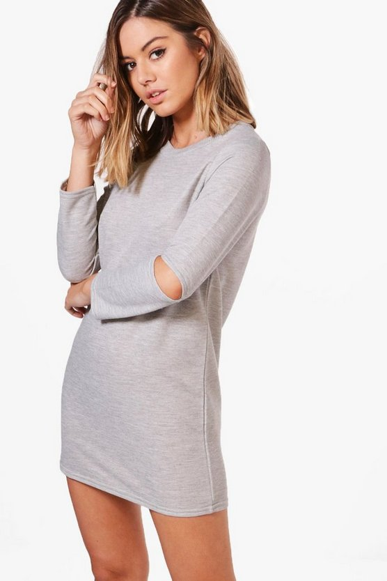 Petite Nadia Slash Sleeve Sweat Dress