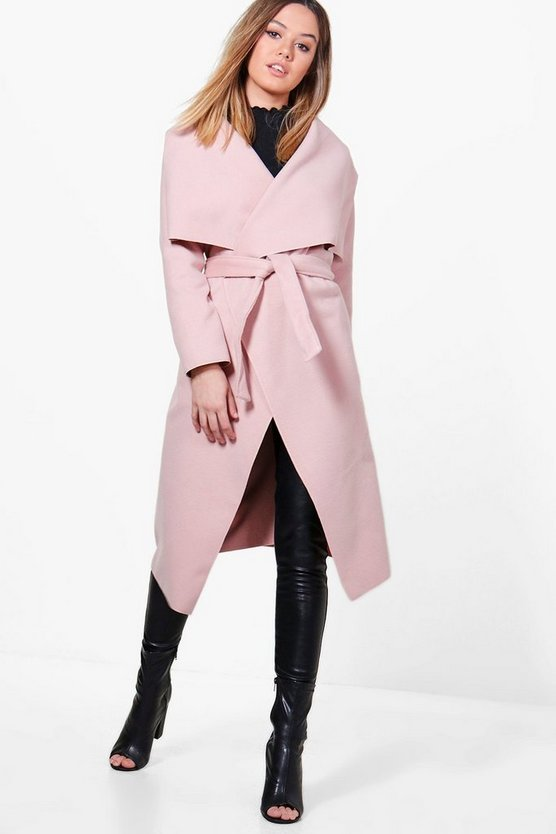 Womens Blush Petite  Waterfall Shawl Coat
