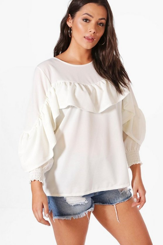 Plus Dawn Frill Detail Sweat Top